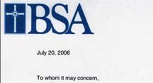 BSA commends ABC